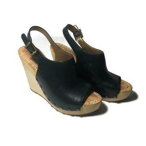 Sam Edelman 7.5  Camille black wedge sandal